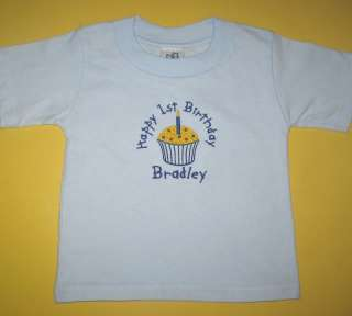 Personalized Birthday Shirt Custom Name Boy or Girl 1st