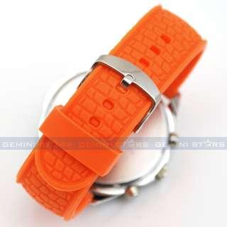Sunshine Orange Soft Silicone Tachymeter Men Lady Teenager Shirt Sport