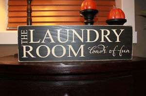 Laundry Room loads of fun Wood Sign, plaque, home decor