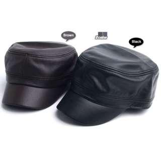 TitleGenuine Leather Unique Cap Army Cargo Military Men Women Black