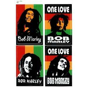 Bob Marley One Love Reggae Decal Sticker Sheet X21