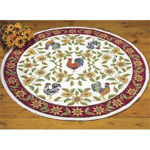 French Country Rooster Rug