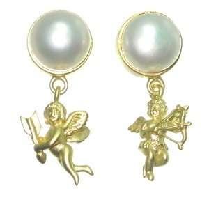 Angel Drop Earrings  Silver Gold Plated Jewelry