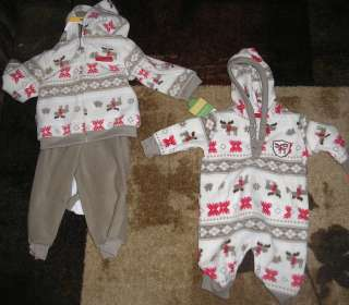 CARTERS JUST FOR YOUR ONE PIECE AND THREE PIECE UNISEX BABY CLOTHES