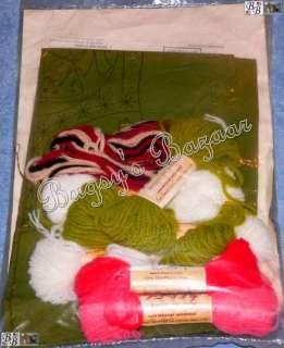 MRS. Claus CHRISTMAS Crewel Stitchery Stocking Kit