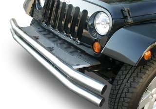 Front Double Tube Bumper Stainless Jeep Wrangler 87 95 YJ 97 06 TJ 76