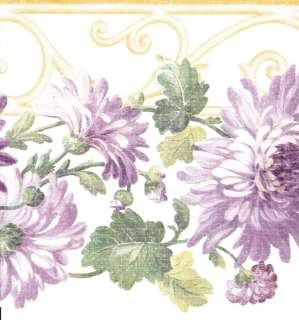 Wallpaper Borders on Wallpaper Border Watercolor Lavender Purple Butterflies