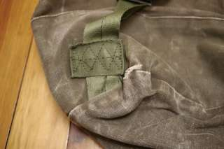 Vintage US Army Military Issued Heavy Duty COTTON Duffle Bag Backpack