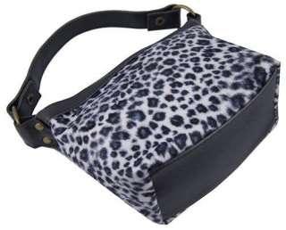 New Cute Black+White Leopard Print Small Handbag #B29