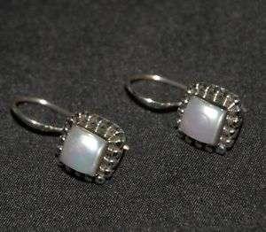 SILPADA Sterling Silver & Pearl Earrings   W1394
