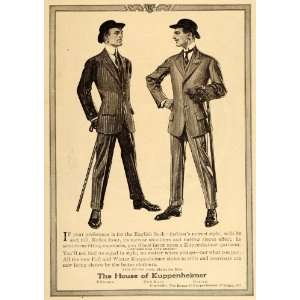 1911 Ad Kuppenheimer Men English Sack Suits Clothes