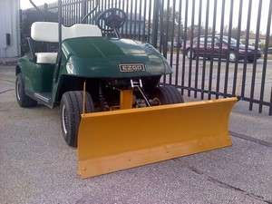 TXT Golf Cart Heavy Duty Snow Plow/Blade   1996 Up Gas and Electric