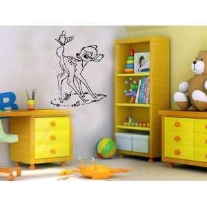 Bambi Cartoon Disney Nursery Room Boys Girls Kids Toddlers
