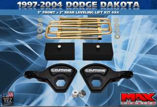 1997 2004 Dodge Dakota 3 + 2 Lift Kit Leveling 4WD PRO
