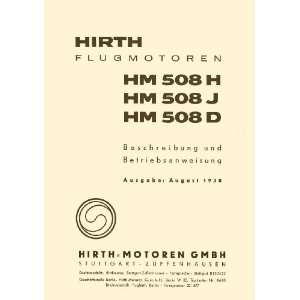 HM 508 H J D Aircraft Engine Technical Manual Hirth HM 508 Books