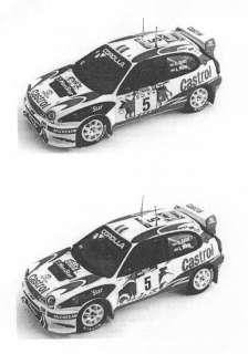 Colorado Decals 1/24 TOYOTA COROLLA WRC 98 Rally Car