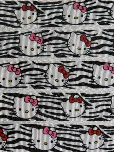 YARDS HELLO KITTY ZEBRA / RED & PINK BOWS GROSGRAIN RIBBON 1
