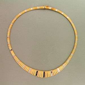 14K ITALIAN TRI COLOR CLEOPATRA NECKLACE