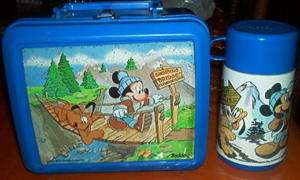 Lunchbox and Thermos Set Mickey Mouse 1987 Aladdin