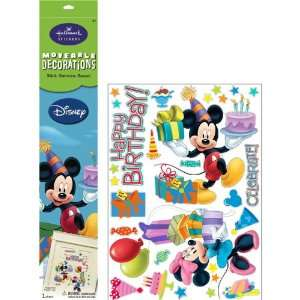 By Hallmark Disney Mickey and Minnie Large Removable Wall Decorations