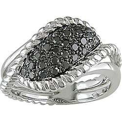Sterling Silver 1/2ct TDW Black Diamond Ring