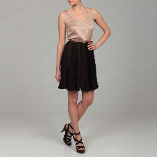 Miss Sixty Womens Black Tiered Belted Dress