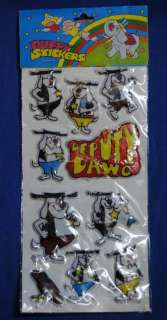 Vintage New Old Stock NOS Deputy Dawg Puffy Stickers