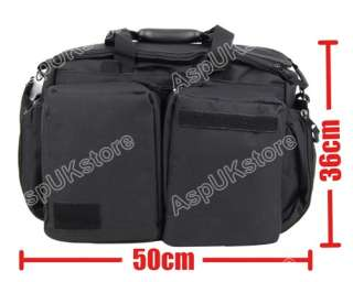 Airsoft Tactical Trip Hand Shoulder Bag Briefcase BK AG