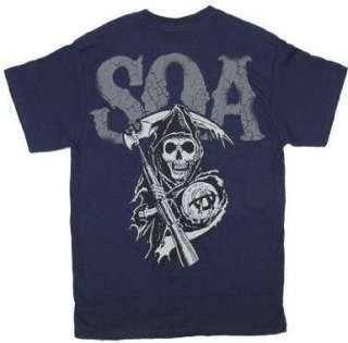 Sons of Anarchy: Cracked SAMCRO SOA T Shirt XL