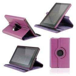 Deluxe  Kindle Fire Rotating Leather Case with Swivel Stand