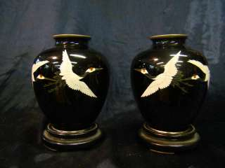 Goregous Pair of Antique Japanese Cloisonne Vases