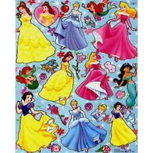 Disney Princesses STICKER SHEET E032 ~ Snow White Cinderella Aurora