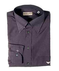 Armani Jeans Mens Charcoal Grey Dress Shirt  Overstock