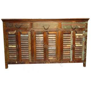 Old Reclaimed Wood Distress buffet cabinet sideboard