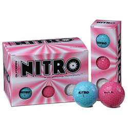 Nitro Glycerin Multi colored Golf Balls (Pack of 72)