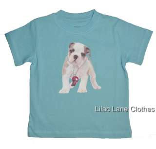 Gymboree Beach Bulldog Shirts Rescue for Treats or Brave Like Daddy