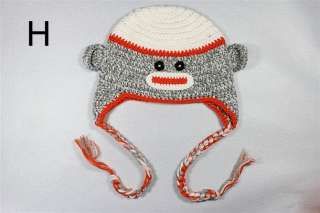Lovely Gorgeous Baby Toddler Children Sock Monkey Ski Style Knit Hat
