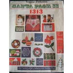 SANTA PACK 1313 FROM VOGUE PATTERNS CHRISTMAS MOTIFS   HOT