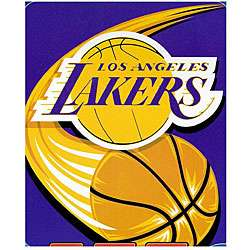 Los Angeles Lakers Logo Throw Blanket
