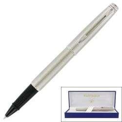 Waterman Hemisphere Stainless Steel Chrome Trim Rollerball Pen