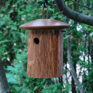 Natural Wood Backyard Chickadee Bird House Birdhouse
