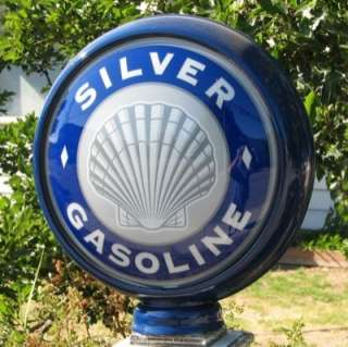 Silver Shell Gasoline  15 Gas Pump Globe Lenses