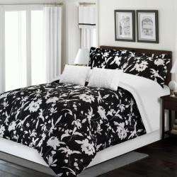 Alberta Black/ White 6 piece King size Comforter Set