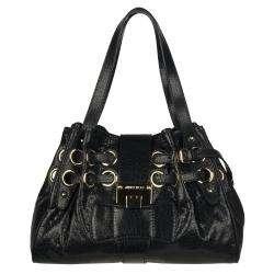 Choo Riki Small Black Textured Leather Shopper Bag