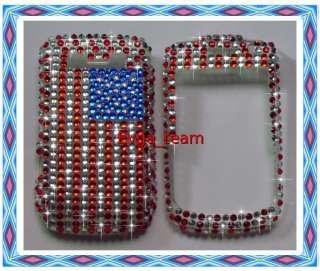 US Flag Bling Hard Case Cover For BlackBerry 8900