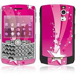 Pink Stars BlackBerry Curve 8330 Decal Skin