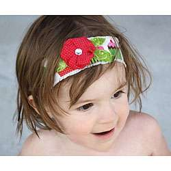 Headbandz Cupcake Rhinestone Flower Headband