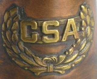 Solid Copper Brass Bugle CSA Confederate Civil War Army