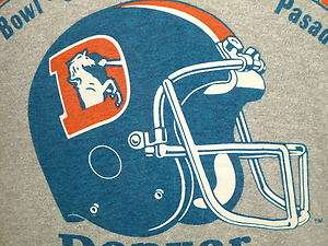 vtg DENVER BRONCOS t shirt 1987 SUPER BOWL M