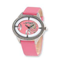 Ed Hardy Womens Showgirl Butterfly Pink Strap Watch